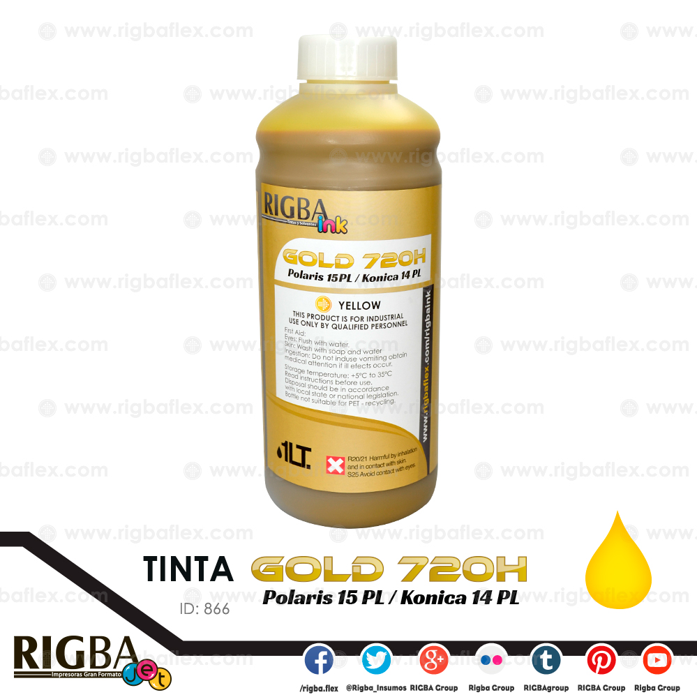 RIGBA ink 720H Gold Yellow 14 y15PL  Liter
