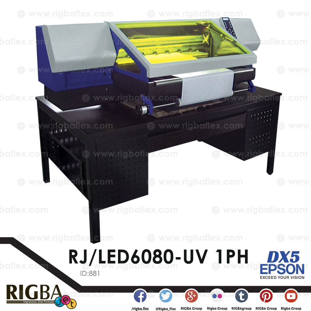 Impresora alta resolucion super precision UV LED C M Y K con cabezal  DX-5 1PH