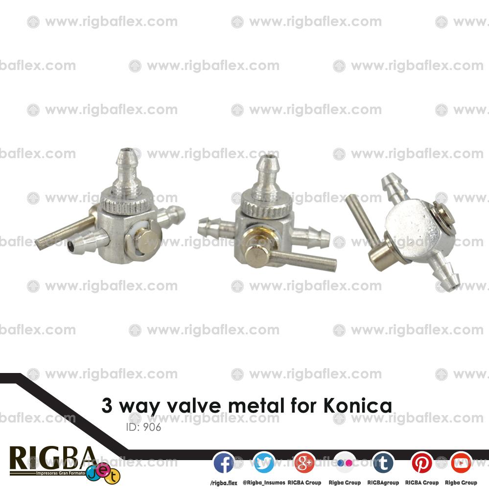 3 way valve metal for Konica