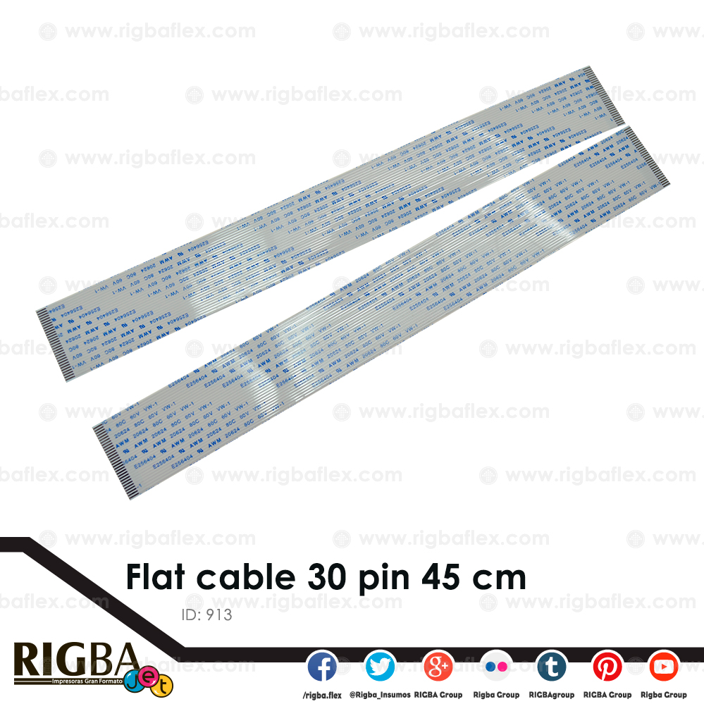 Flat cable 30 pin 45 cm