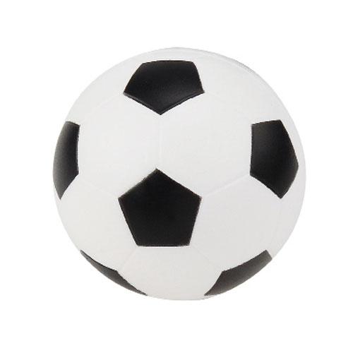 Pelota con forma de balon de futbol anti estres. Medidas: 6.2 cm Diametro