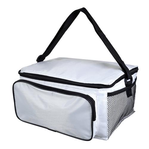 Hielera 2 six con interior metalizado plastificado e impermeable. con bolsa frontal. Medidas: 30 x 17 x 23 cm