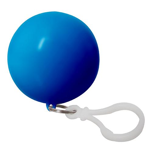 Impermeable Ball, es una esfera que contiene capa impermeable de plastico. Incluye llavero plastico. Medida 6,4 cm