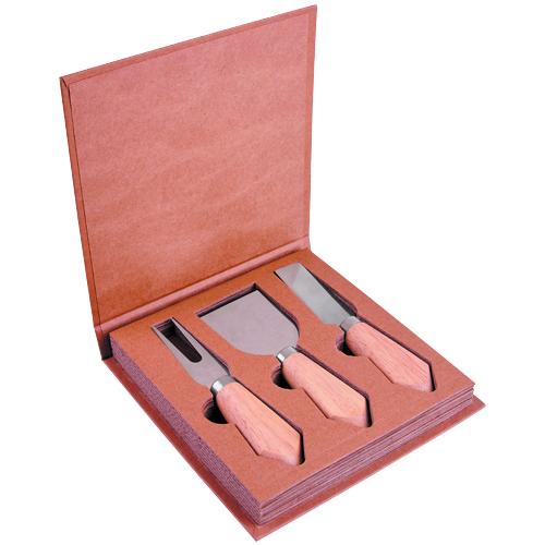 SET FONTIN (Incluye 3 accesorios de cocina y estuche.) MATERIAL: Madera / Metal  MEDIDA: 16.5 x 16.8 cm