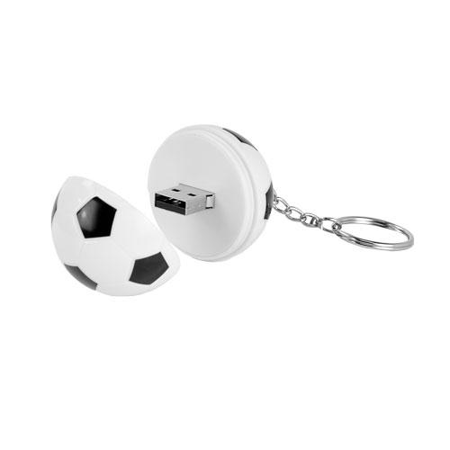 USB SOCCER (Incluye llavero y placa metalica para grabado.) MATERIAL: Plastico  TAMANO: 4.1 cm Di metro