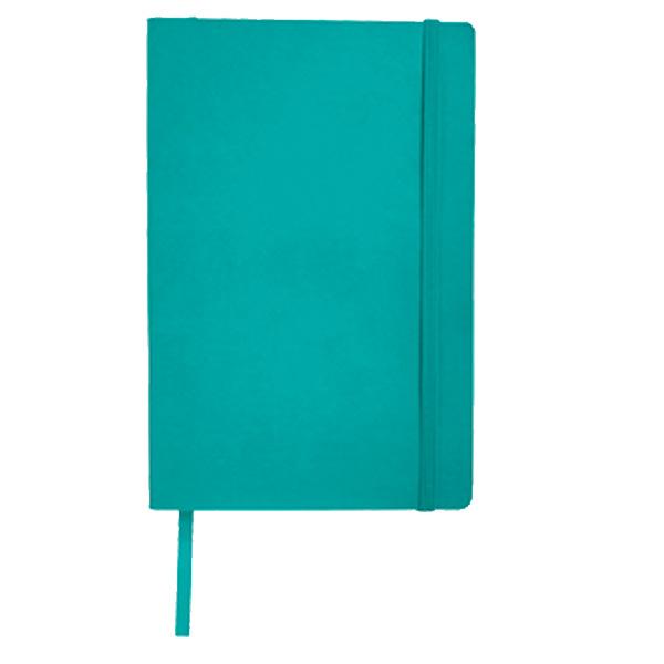 LIBRETA JOURNALBOOK 80 HJS SOFT  Libreta JOURNALBOOK de pasta suave, con 180 hojas rayadas, separador de hojas, cierre el�stico y folder para documentos en contraportada interior.